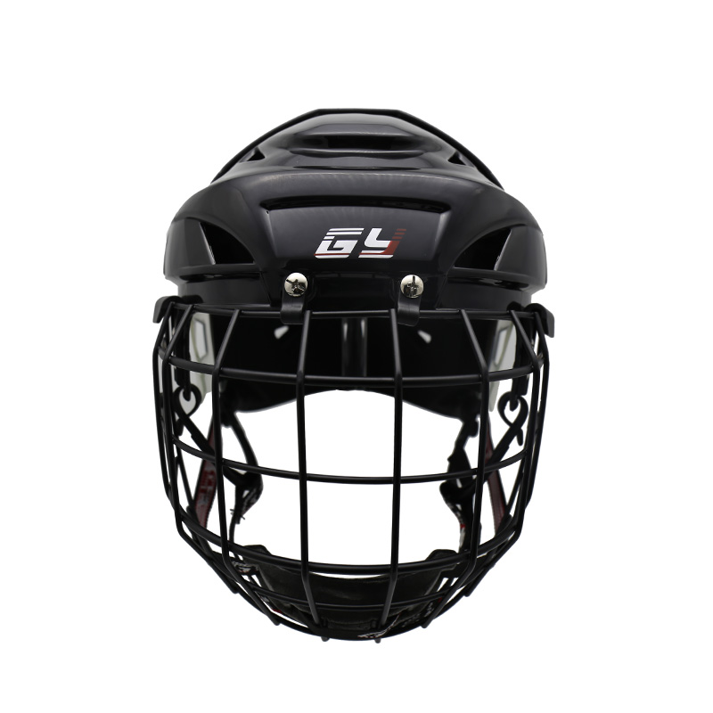 2018 free shipping GY-PH9000-C2 ice hockey helmet with cage kids and adult ice hockey casque Black color L and XL size helmet dhl free shipping synthetic embroidery ice hockey jerseys wholesale