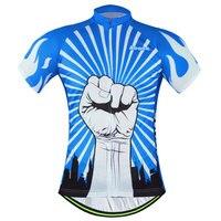 אופני מירוץ clothing למעלה גברים של חולצות שרוול קצר אופני גופיות רכיבה על אופניים mtb גופיות כוח פסים לבנים בצבע כחול 2017 קיץ