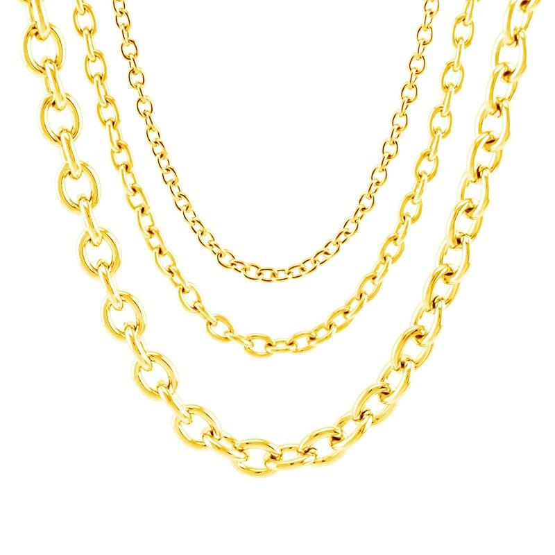 100% chaîne en acier inoxydable pour la fabrication de bijoux 4/6/8mm argent or métal Rolo lien chaîne au mètre Cadenas Por métros pas de fermoir 20m - 6