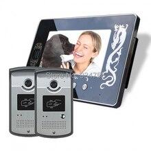 2V1 7 pulgadas TFT Color Digital LCD Monitor 1/3 CMOS impermeable cámara de visión nocturna Video teléfono de la puerta