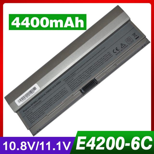 4400 mah batería del ordenador portátil para dell latitude e4200 f586j r331h r640c r841c w346c w343c y082c y084c y085c x784c