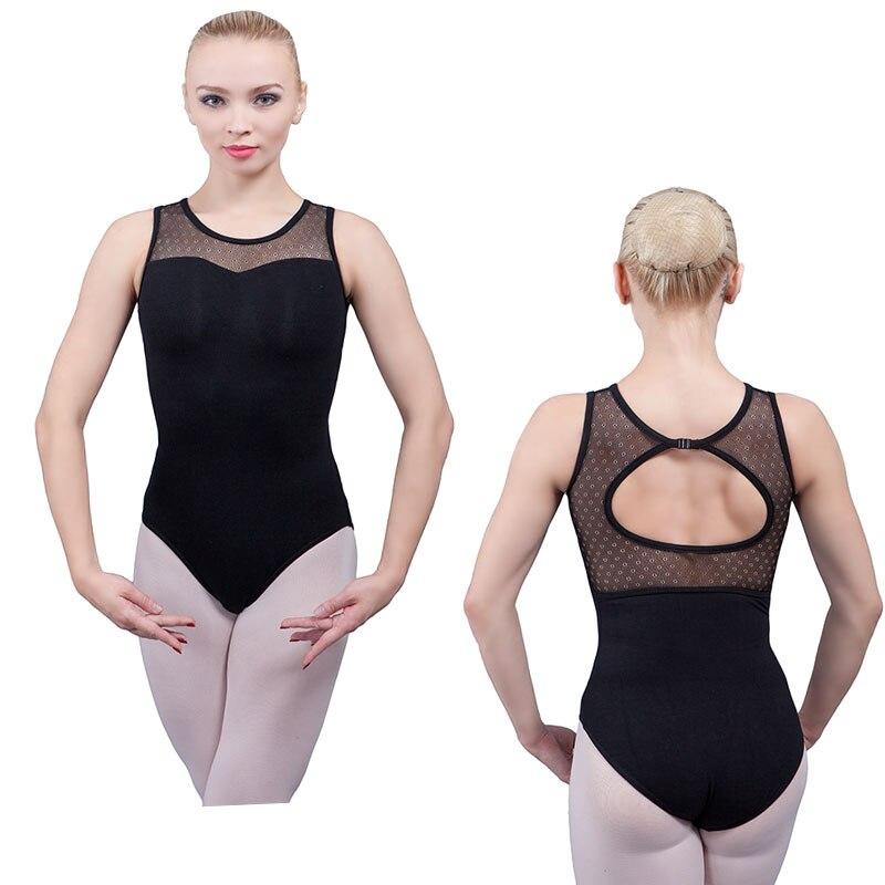 Ladies Black Dance Leotard DL013 Cotton
