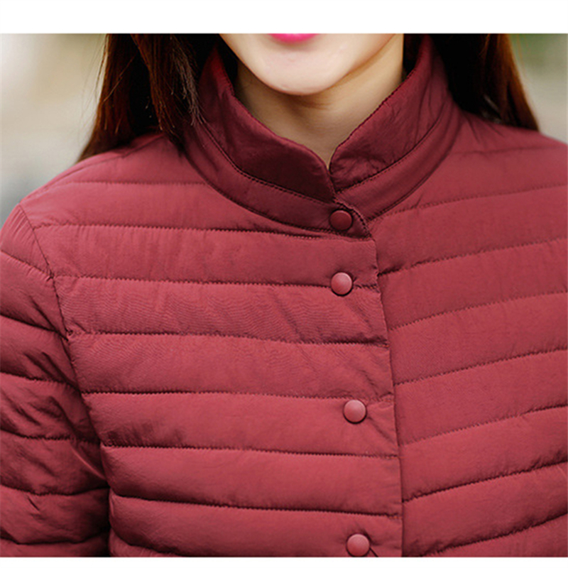 Mince Automne Chaud Veste Femmes Slim Mode light Red Femme Parka Casual Couleur Coton Solide Black wine D'hiver Long dark Wmwmnu Manteau Grey Blue w7Iqvvz