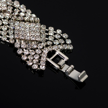 Rhinestone Silver Plated Crystal Bracelet For Wedding