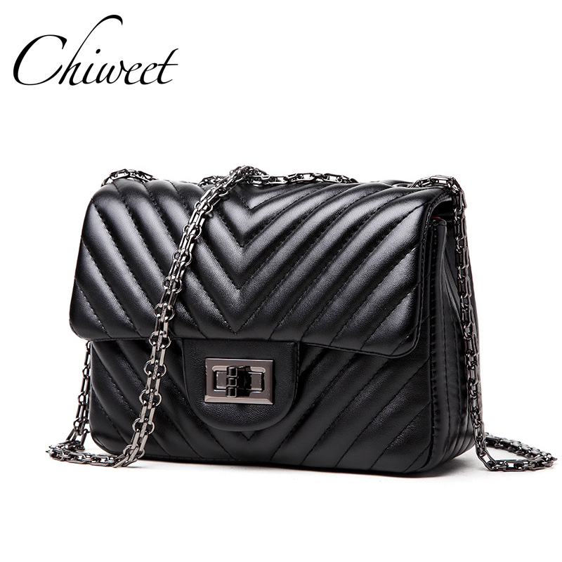 Famous Brand PU Leather Luxury Handbags Women Bag Designer Small Crossbody Bags Classic V Quilted Female Messenger Shoulder Bag