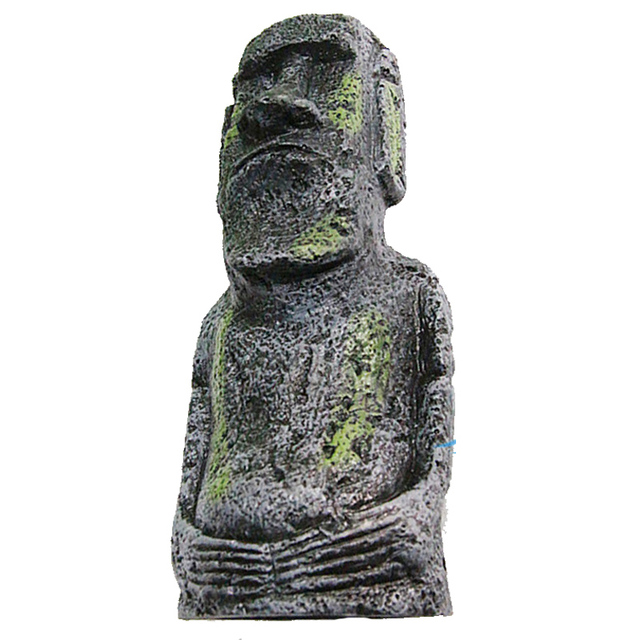 Great Gift 1pcs Easter Island Statue Moai Home Decoration Aquarium Fish  Tank Decor Ornament