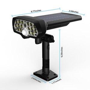 Image 2 - Shark LED solarny czujnik ruchu pir lampa słoneczna wodoodporna zasilana energią słoneczną reflektory kinkiet zewnętrzna dekoracja ogrodowa