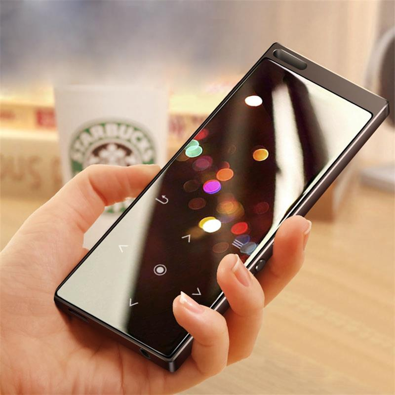 Bluetooth4.0 Metal MP3 Music Player Built-in Speaker Touch Button Lossless HiFi Sound Player with FM, Support Up to 128G SD CardBluetooth4.0 Metal MP3 Music Player Built-in Speaker Touch Button Lossless HiFi Sound Player with FM, Support Up to 128G SD Card