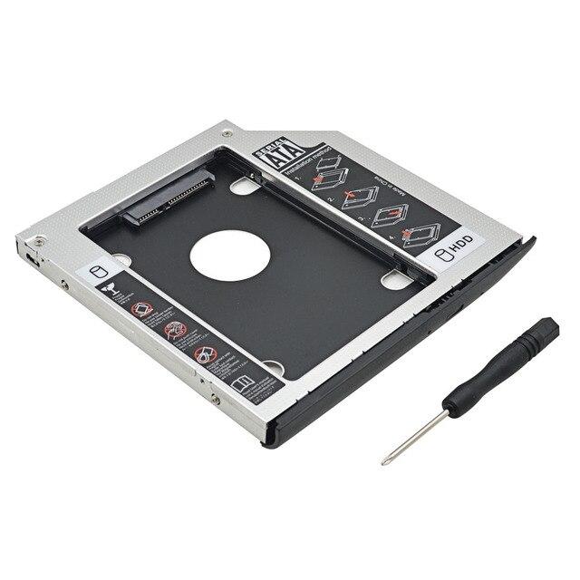 Алюминиевый 2nd HDD Caddy 9,5 мм SATA 3,0 двойной светодиодный корпус SSD корпус HDD заказной для hp EliteBook 2530 p 2540 p cd-rom Оптический отсек