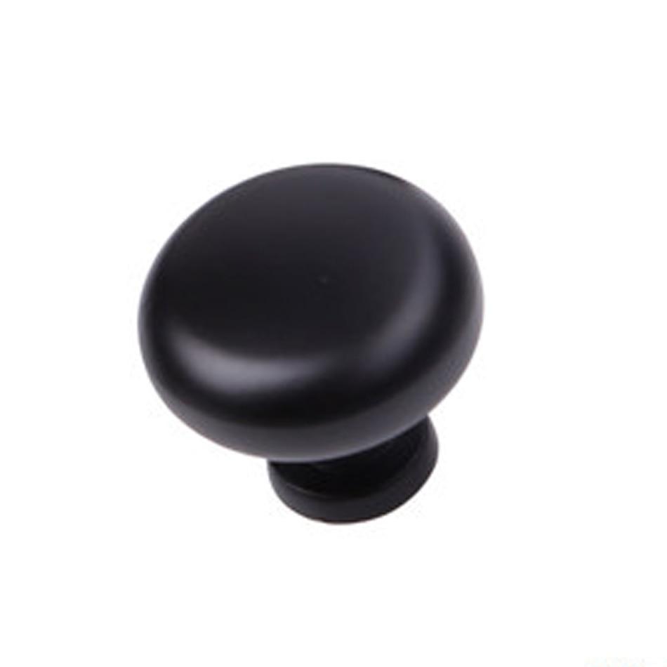 Matte Black Round Ball Closet Drawer Knobs Classical Top