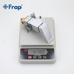 Image 4 - Frap Bidet Faucet Brass Shower Tap Washer Mixer Muslim Ducha Higienica Cold & Hot Water Mixer Crane Square Shower Spray F7506