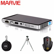 Mini Proyector Portátil de Bolsillo HD Proyector DLP Wifi Bluetooth DLNA Android OS 1G + 8G/16G PJ02 ROM 30-150 pulgadas de Cine En Casa