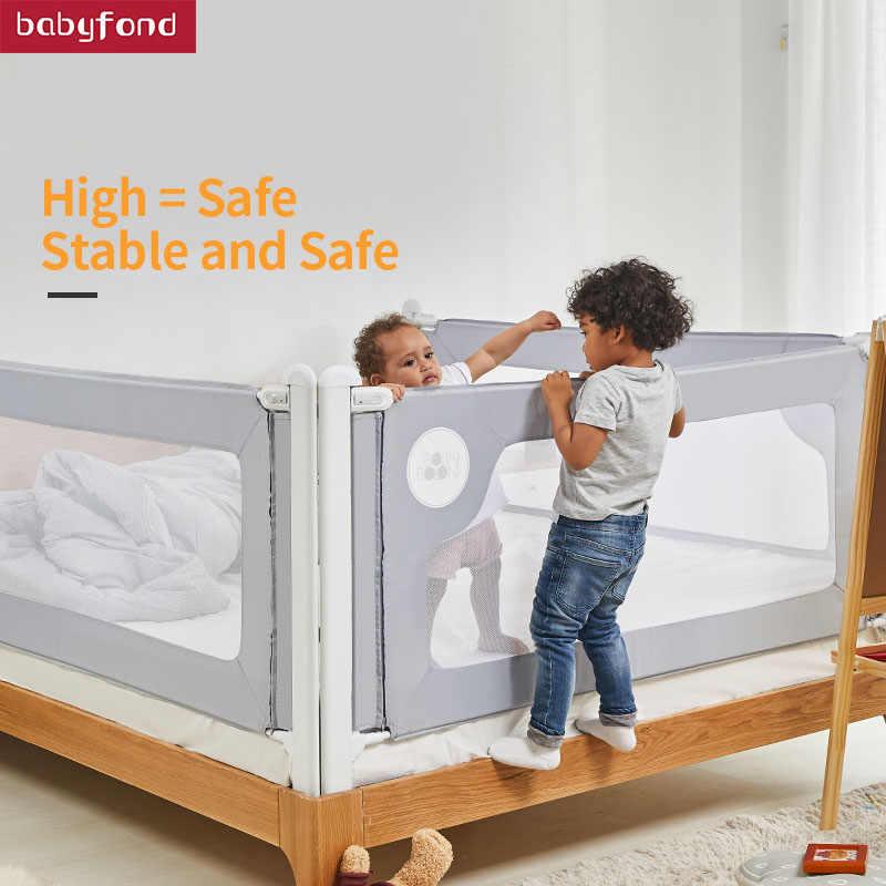 Bolin Bolon Crib Barrier เตียงเกียร์ป้องกันเตียงและความปลอดภัยสูงขึ้นเย็บแนวตั้งยก
