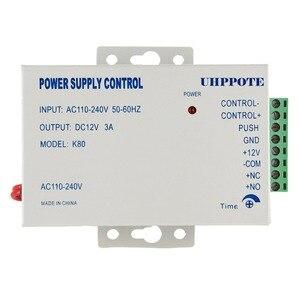 Image 4 - Дверной замок, система контроля доступа, Электрический дверной замок с блоком питания, считыватель отпечатков пальцев, кнопка выхода, 10 ярлыков