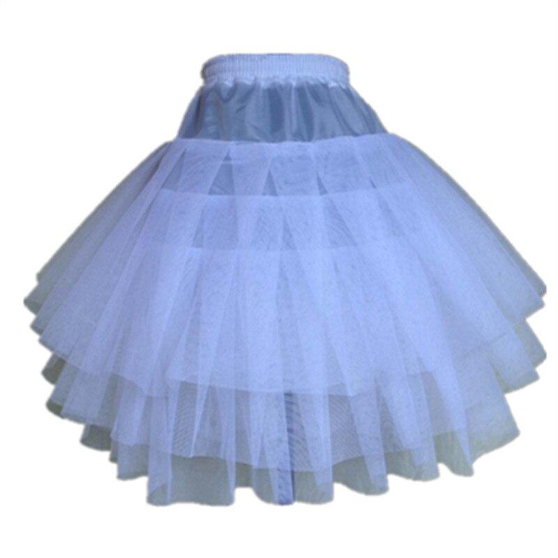 New Children Petticoats For Formal/Flower Girl Dress 3 Layers Hoopless Short Crinoline Little Girls/Kids/Child Underskirt