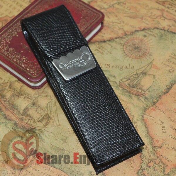купить CROCODILE LUXURY BLACK BROWN RED ROLLER AND FOUNTAIN PENS CASE HOLDER FOR 2 PEN по цене 321.96 рублей