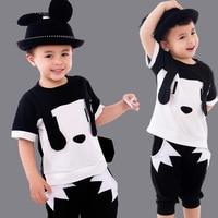 Children S Day Kindergarten School Clothes Summer Baby Boys Embroidery Cotton Short Sleeved Suit 2 Piece