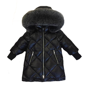 Image 2 - Children Outerwear Winter Jackets Coats Girls Warm Thick Down Jacket Kids Hoodie Big Fur Clothes Russia Winter Snow Wear Parka