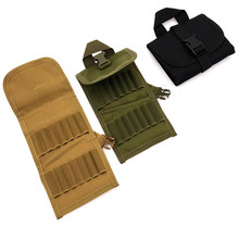 Hunting Foldable Ammo Carrier Bag Shotgun Bullet Holder Rifle Cartridge Carrier 14 Round Ammo Shells Tactical Molle Shell Pouch