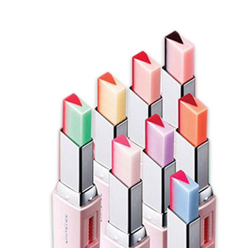 Fashion Korean Bite Lipstick V Cutting Two Tone Tint Silky Moisturzing Nourishing Lipsticks Balm Lip Cosmetic HJL2017