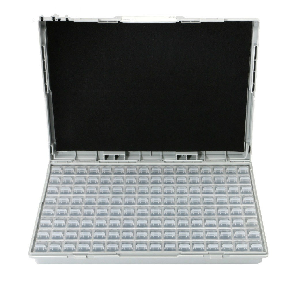 Enclosure SMD SMT IC Resistor Capacitor Electronics Storage Case Organizers ESD Safe Precision Component Enclosures Boxes