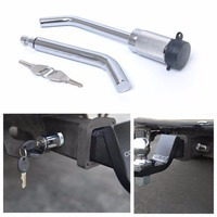 Trailer Lock Dual Bent Pin Receiver Lock 5/8 &1/2Tow Trailer Hitch Pin Lock with Keys for Trailer Truck RV Car Accessories