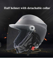 Motorcycle Parts Fashion Unisex E Bike Moto Scooter Helmet for Men Women Summer Helmets with High Quality Goggles Half Helmet