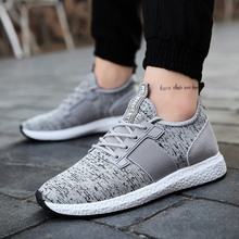 LEOCI Men Sneakers Running Shoes Lightweight Breathable Mesh Sports