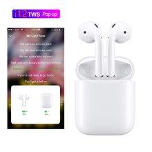 Всплывающие наушники i12 TWS Bluetooth 5,0 4D Super Bass Sound наушники беспроводные наушники для всех смартфонов PK i20 TWS i10 tws