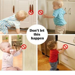 Image 5 - 3 + 12 חבילה מגנטי ילד בטיחות תינוק הגנת ארון דלת מנעול ילדים הלבשה מגירת אבטחת Invisible מנעולים