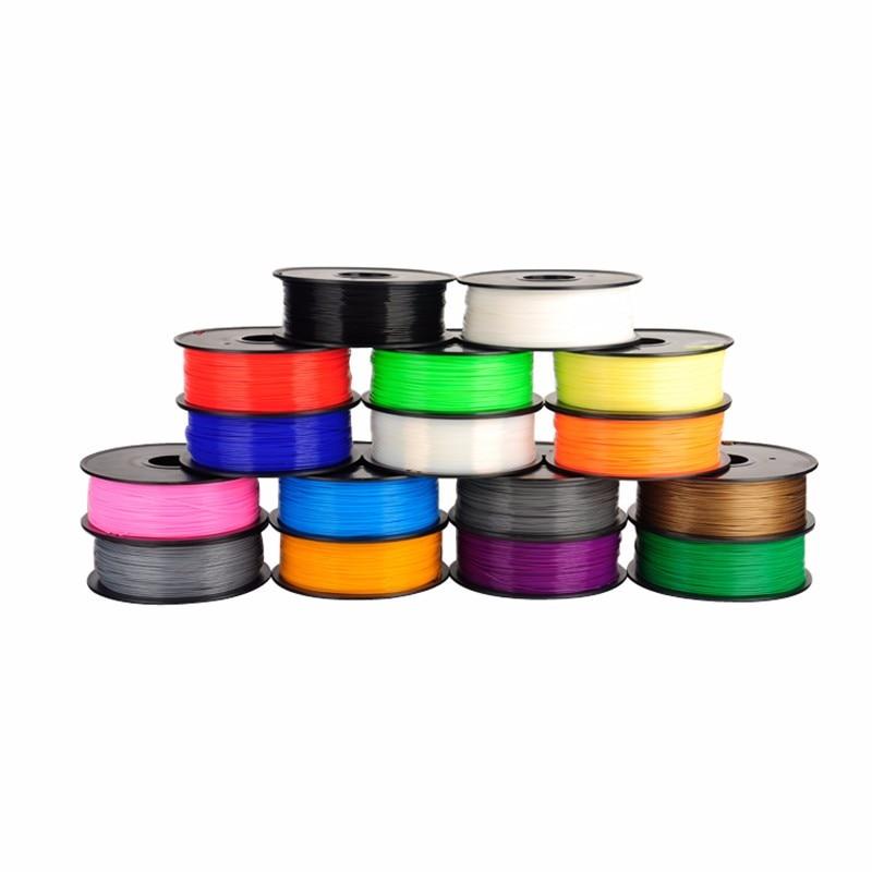 Impressora 3d pla filamento diâmetro 1.75mm ácido polilático 1kg filamento 3d caneta impressão z18 mini placas de sublimação prusa i4