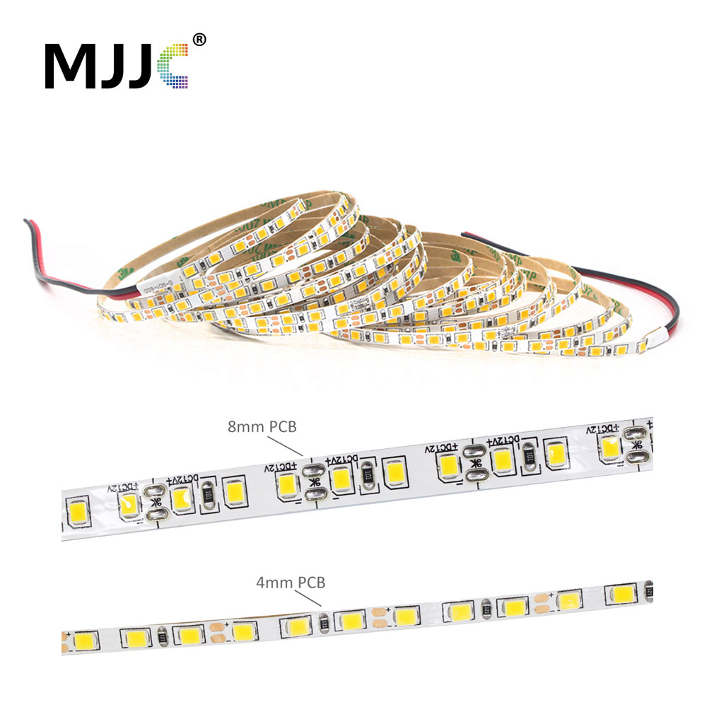 <font><b>LED</b></font> Strip Light 12V <font><b>SMD</b></font> 2835 <font><b>4MM</b></font> 8MM Warm White Slim Tira <font><b>LED</b></font> Tape Stripe Ribbon 5M Flexible Indoor Home Decoration Lighting image