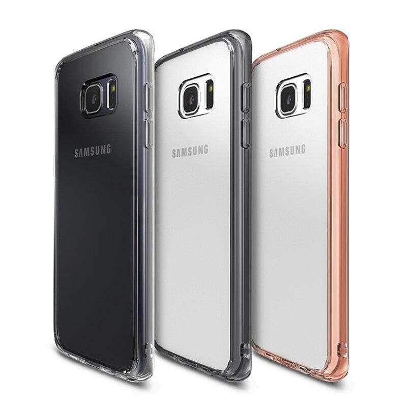 imágenes para Original Ringke Fusión Claro PC Volver Borde Resistencia A La Caída de Absorción de Impactos de TPU Flexible Para Samsung Galaxy S7/S7 borde