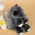 18 см Кролик Подвеска Брелок Кролика Рекс сумка украшения Автомобиля Очарование Тег бесплатная доставка Рождественские подарки Симпатичный Мини-Кролик игрушка