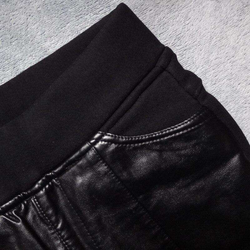 Весенние и осенние универсальные эластичные облегающие черные леггинсы для похудения женские леггинсы верхняя одежда обтягивающие брюки ... - 4
