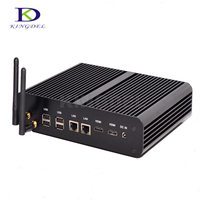 Kingdel Fanless Mini PC,Desktop Computer,Intel 4th Gen. Haswell Core i7 4500U,HTPC,HD 4K, 2*LAN+2*HDMI+SPDIF,Wifi,Windows 10 Pro