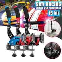 NEW 16bit Hall Sensor USB Handbrake SIM W/Clamp for Racing Games G25/27/29 T500 FANATECOSW DIRT R ALLY