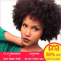 4B 4C Afro Kinky Curly Clip In Human Hair Extensions Brazilian Remy Hair 100% Human Natural Clip Ins Hair Bundle Ever Beauty