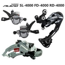 SHIMANO ALIVIO M4000 9 s 27 s Скорость MTB велосипеда список групп комплект 3 Запчасти с переключения рычага и передний и задний переключатель