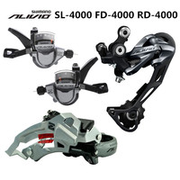 SHIMANO ALIVIO M4000 9S 27S Speed MTB Bicycle Groupset Kit 3 Parts with Shifter Lever & Front and Rear Derailleur