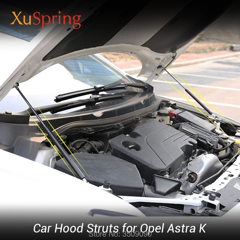 Car Bonnet Cover Lifter Support Hydraulic Rod Spring Shock Strut Bars for Opel Astra K Vauxhall Holden Astra 2015 2019 MK7-in Interior Mouldings from Automobiles & Motorcycles