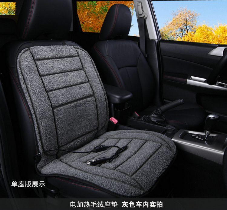 Универсальный 12 В с подогревом сиденья автомобиля Чехлы для подушек коротким ворсом велюр idear зимой на сиденья для автомобиля SUV грузовик до...