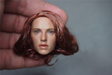 1/6 Scale Female Head Sculpts Model Toys Avengers Age of Ultron Black 3.0 Widow Curly Head Carving F12″Action Figure Accessory