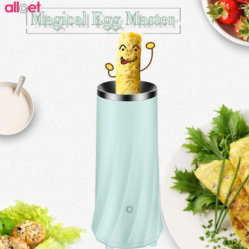 Automatic Electric Mini Egg Roll Maker Omelette Breakfast Kitchen Cooling Egg Cooker Master boiled with EU plug Automastic House hard boiled egg peeler kitchen tool