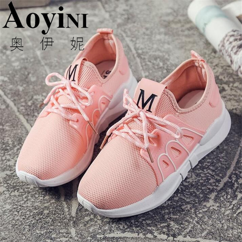 Women Breathable Casual Shoes New Womens Soft Soles Flat Shoes Fashion Air Mesh Summer Shoes Female tenis feminino Sneakers