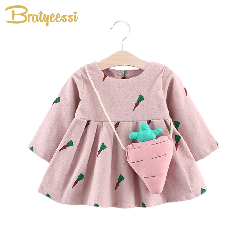 Cute Carrot Baby Dress For Girls Wool Autumn Winter Baby -8908