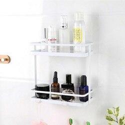 Japoński pojemnik na przyprawy stojak do przechowywania przyprawa kuchenna organizator przedmiot mydło łazienkowe szampon pod prysznic metalowa półka ściany uchwyt wiszący