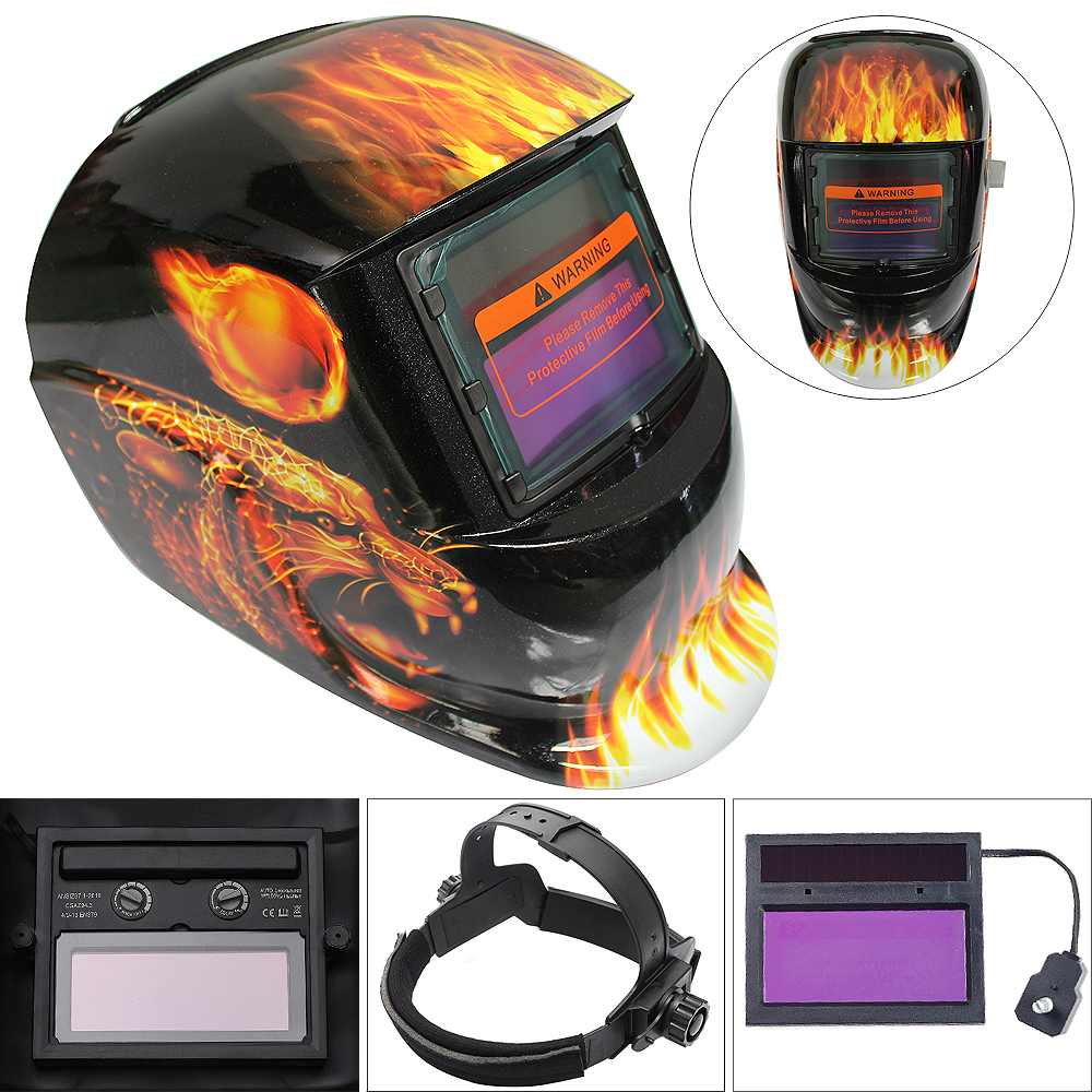 New Leopard Pattern Adjust Solar Auto Darkening TIG MIG Grinding Welding Helmets / Face Mask / Electric Welding Mask / Weld Cap yihu gas masks protective mask respirator against painting dust storms formaldehyde pesticides spraying mask