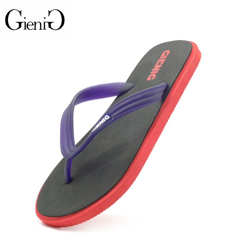 Gienig 2017 new men's slippers flip flops men with the summer platform sandals Beach slippers male home slippers beach slippers environmentally friendly pvc inflatable shell water floating row of a variety of swimming pearl shell swimming ring