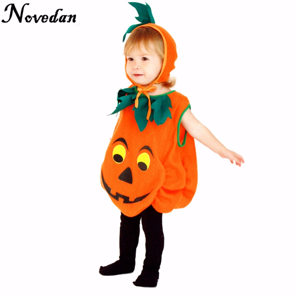 baby halloween costume pumpkin cosplay outfit for kids girls toddler